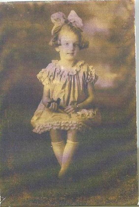 Islea in a non-crepe paper dress.
