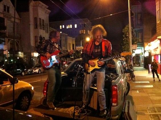 It happened on Haight Street last night.