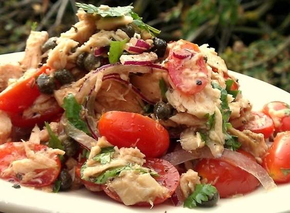 Italian tuna salad featured in the BrokeAss Gourmet Cookbook