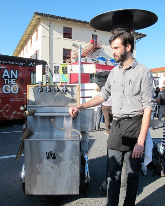 It's a mobile beer cart delivering sudsy satisfaction where you need it most - LOU BUSTAMANTE