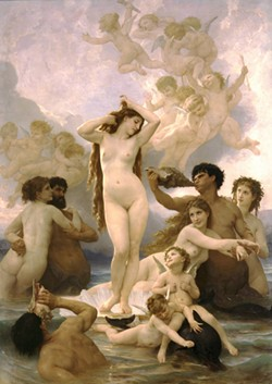 WILLIAM ADOLPHE BOUGEREAU - It's hard to enjoy fine art with hordes - of children everywhere.
