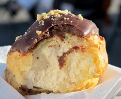 LOU BUSTAMANTE - It's your loss if you don't consider cream puffs proper food truck cuisine.