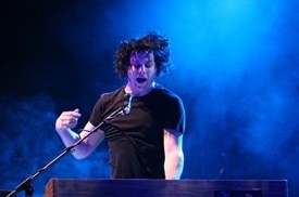 Jack White with the Raconteurs at Treasure Island 2008 - CHRISTOPHER VICTORIO