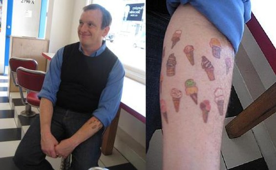 Jake Godby shows his dedication to ice cream - ANDY WRIGHT