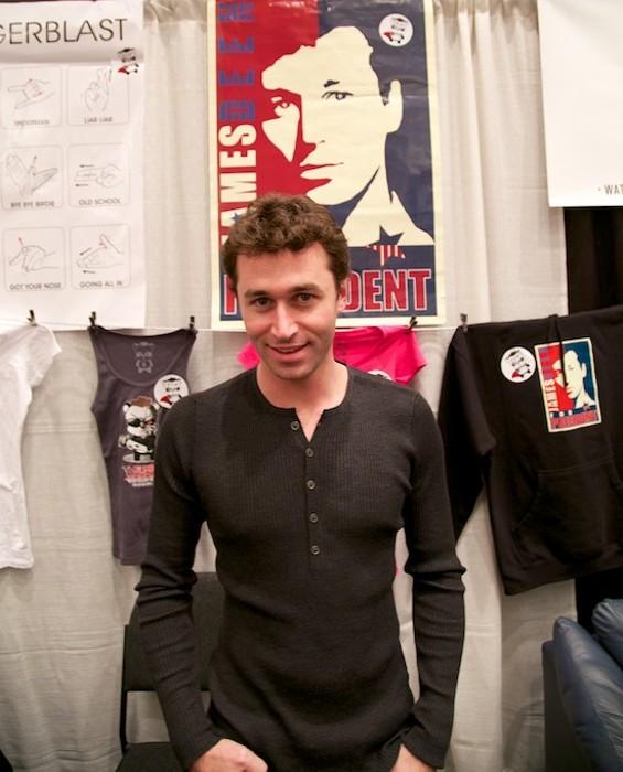 James Deen at his AVN Booth - CIRCUS BOY