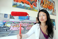 JOSEPH SCHELL - Jane Kim is painting the town red.