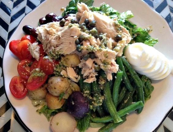 Jane's exemplary nicoise salad. - JULIE KRAMER