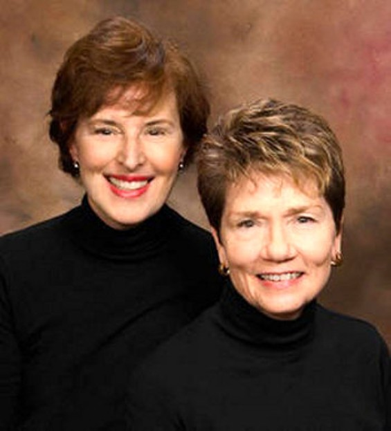 Janet Gallin (left) and Tresa Eyres are the Love Letter Squad.