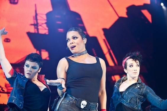 Janet Jackson at Bill Graham Civic Auditorium last night. - RICHARD HAICK