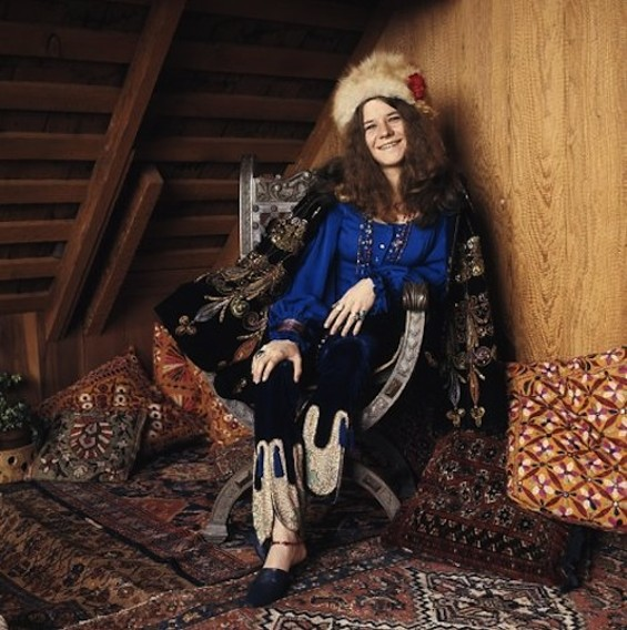 Janis Joplin inside the Bernal Heights home that might have sold this week. - BERNALWOOD