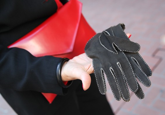 Jaqueline's gloves were hand-sewn by a fashion-conscious Parisian of yesteryear. - KATE CONGER