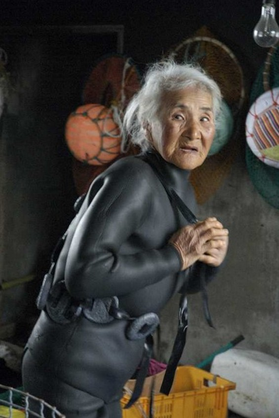 """Jeju Grannies of the Sea (Korea) by Brenda Paik Sunoo. Part of """"Picturing Power and Potential: A Project of Economica"""""""