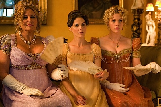 Jennifer Coolidge, Keri Russell, and Georgia King in 'Austenland.' - PHOTO BY GILES KEYTE, COURTESY OF SONY PICTURES CLASSICS