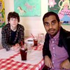 Jesse Eisenberg and Aziz Ansari Talk About Their Film <i>30 Minutes or Less</i>