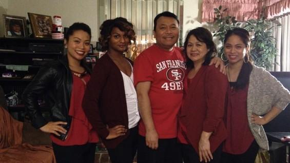 Jewlyes Gutierrez and family.
