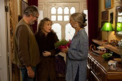 Jim Broadbent, Lesley Manville, and Ruth Sheen give highly exaggerated performances.