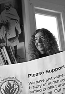 PAOLO  VESCIA - Joan Bernstein heads the Peaceforce Bay Area Affinity - group.