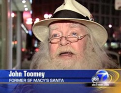 John Toomey has a new address. And it's not the North Pole.