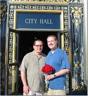 John Vieira and Brad Stauffer at their second wedding, in 2004. - COURTESY PHOTO