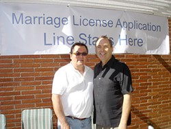 John Vieira and Brad Stauffer's most recent wedding (their third), in 2008.