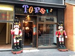 Join the fun at Topsy's.
