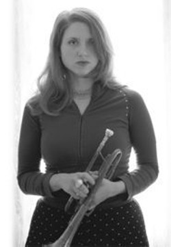 PAUL  TRAPANI - Jolie Holland with her most recent instrumental obsession: the cornet.