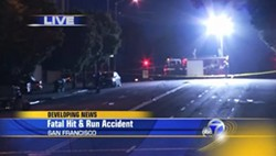KGO DEPICTION OF HIT AND RUN SCENE FRIDAY MORNING