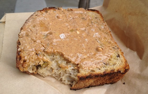 Josey Baker's sunflower-pumpkin-flax-sourdough toast. - ANNA ROTH
