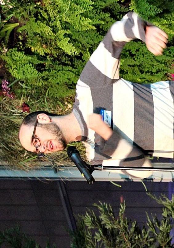 "Josh Gondelman dressed as ""sad Where's Waldo."" - ERIN BROWNER"