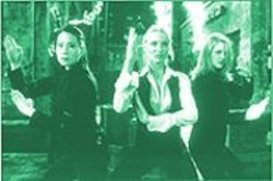 DARREN  MICHAELS - Judo chop! Liu, Diaz, and Barrymore punch, kick, and jiggle their way to mediocrity in Charlie's Angels.