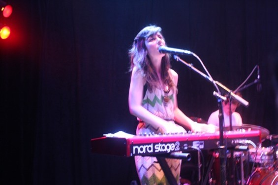 Julia Holter at Rickshaw Stop last night. All photos by the author.