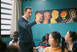 Junior high school teacher François Bégaudeau uses language as a kind of dance.