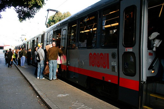 Just like this N-Judah, the budget analyst's audit was packed - JIM HERD