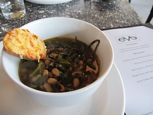 Kale soup with black eyed peas. - JESSE HIRSCH