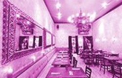 ANTHONY  PIDGEON - Karma Cooking: Destino's baroque-meets-modern dining room.