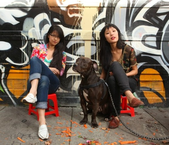Katie Kwan, left, and Valerie Luu - PHIL CARTER
