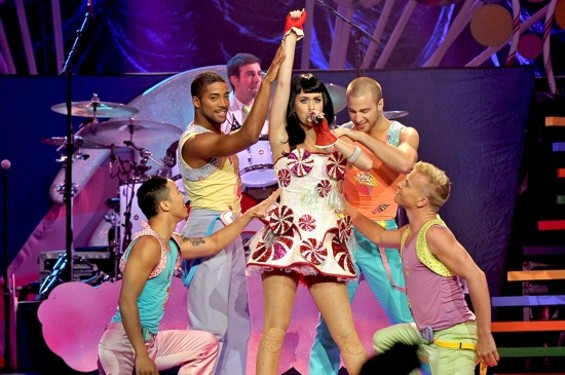 Katy Perry at HP Pavilion on Friday night.