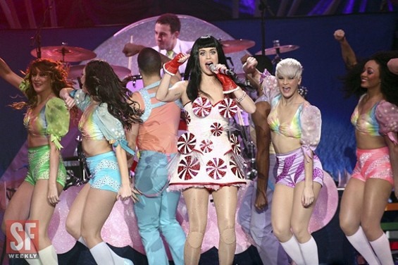 Katy Perry at Oracle Arena last night. - CHRISTOPHER VICTORIO