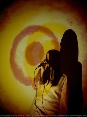 Keenan performing with Broadcast - STEVE DREW