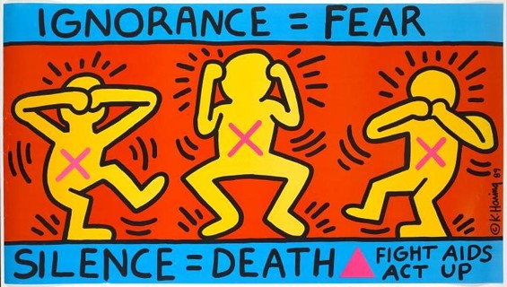 Keith Haring's art is synonymous with AIDS activism during the 80s and 90s. - THE KEITH HARING FOUNDATION
