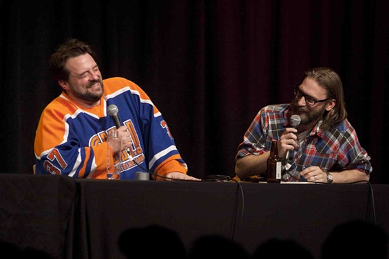 Kevin Smith and Scott Mosier at Cobb's Comedy Club on January 29. - TOMMY LAU