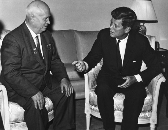 Khrushchev and Kennedy at the 1961 Vienna Summit.