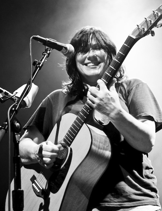 Kim Deal with the Breeders last night at the Fillmore. - CHRISTOPHER VICTORIO