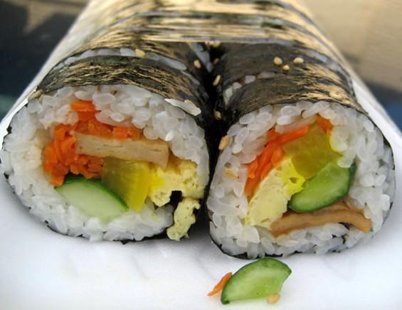 Kimbap from First Korean Market. - JONATHAN KAUFFMAN