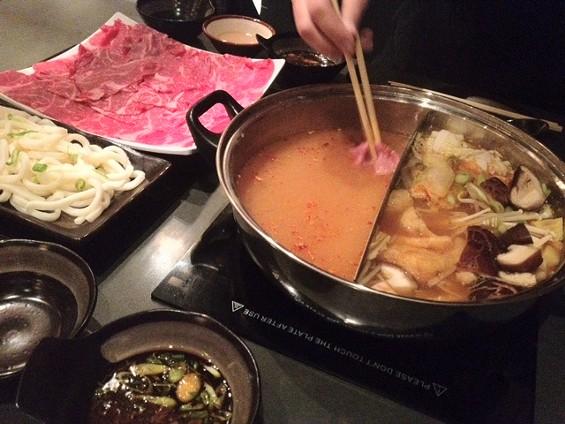 Kimchi miso and spicy miso nabemono at Nabe. - TAMARA PALMER