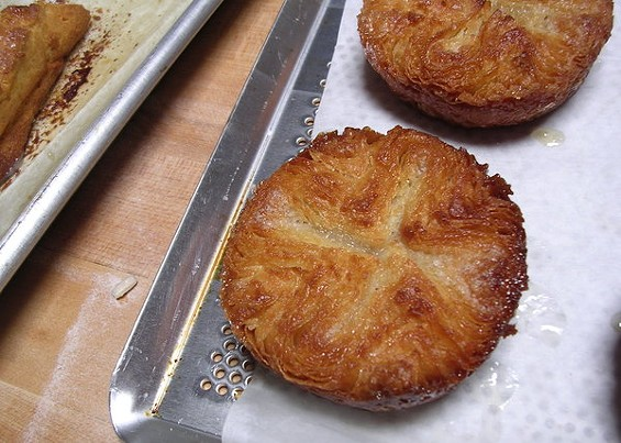 Kouign amann: flaky, salty, caramelized-sugar breakfast pastries from Starter Bakery. - JOHN BIRDSALL