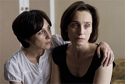 Kristin Scott Thomas (right) is at turns belligerent and indifferent.