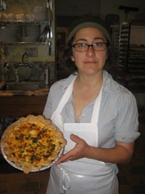 Krystin Rubin with a savory quiche. - MARY LADD