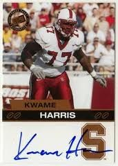 Kwame Harris, who attended Stanford, last played in the NFL in 2008.
