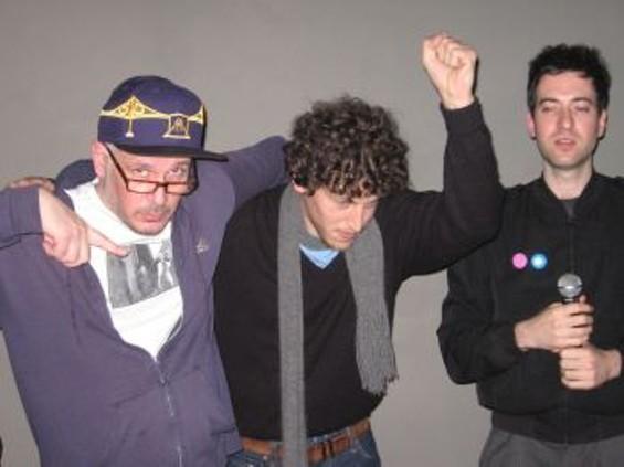 L-R Ricky Powell, DJ Centipede, Edan